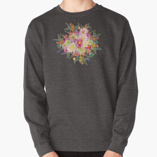 Watercolour Bush Wildflower Garden Pullover Sweatshirt