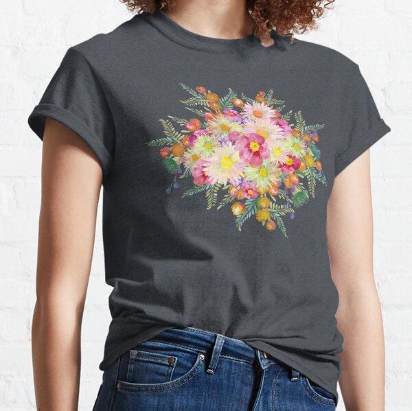 Watercolour Bush Wildflower Garden Classic T-Shirt