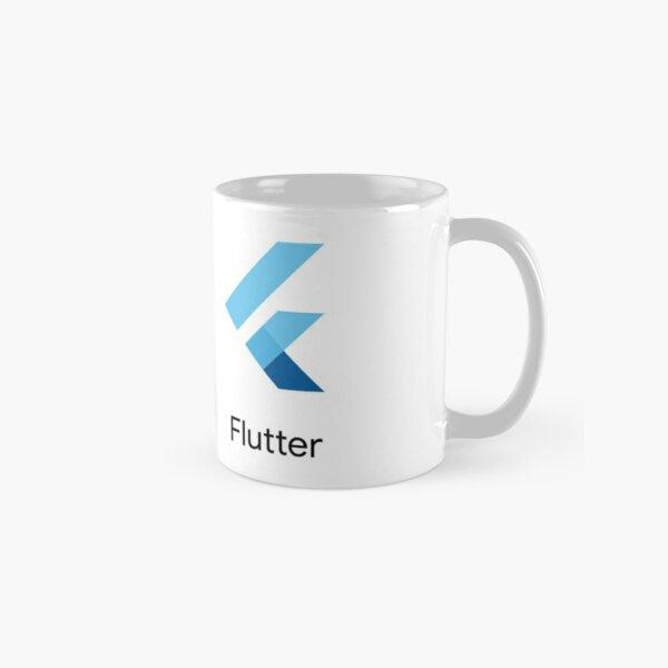 Flutter SDK Logo with Name in Black Classic Mug