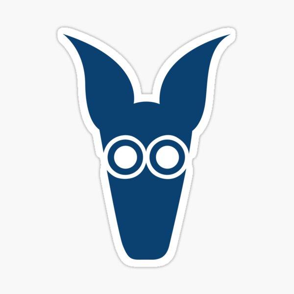 Logotipo del oso hormiguero (azul) Pegatina