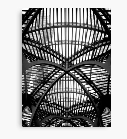 Roof structure in Toronto Canvas Print