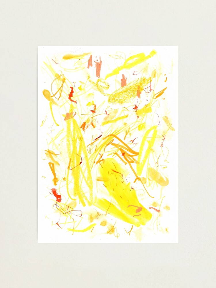 Alternate view of Yellow Mark Making Abstract Art Photographic Print