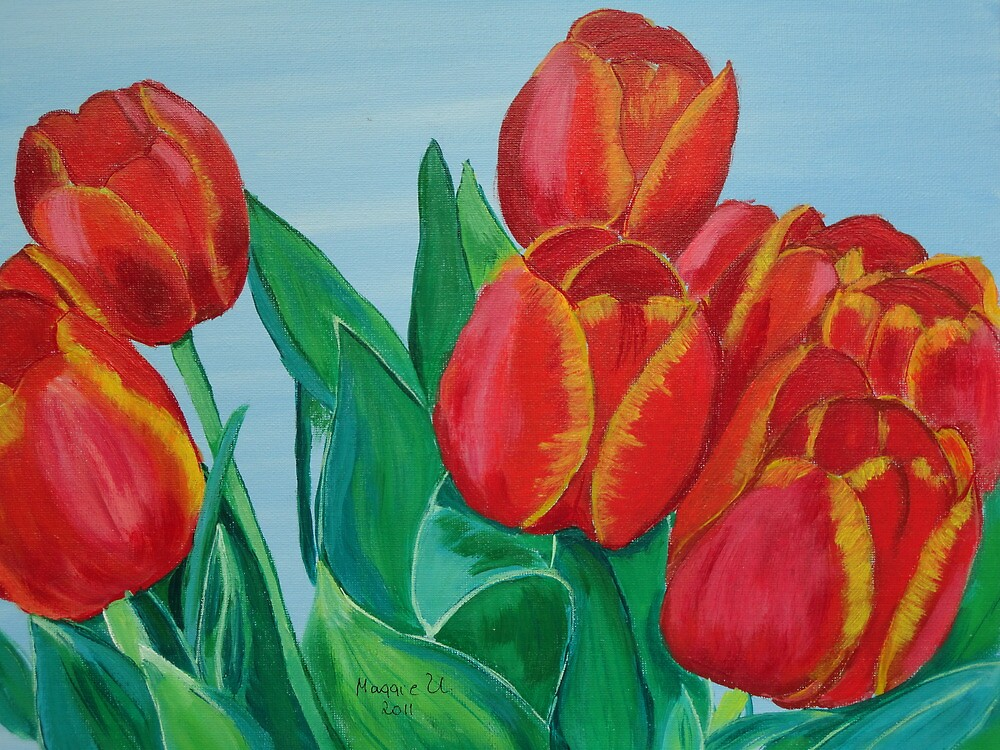 Red Tulips by maggie326