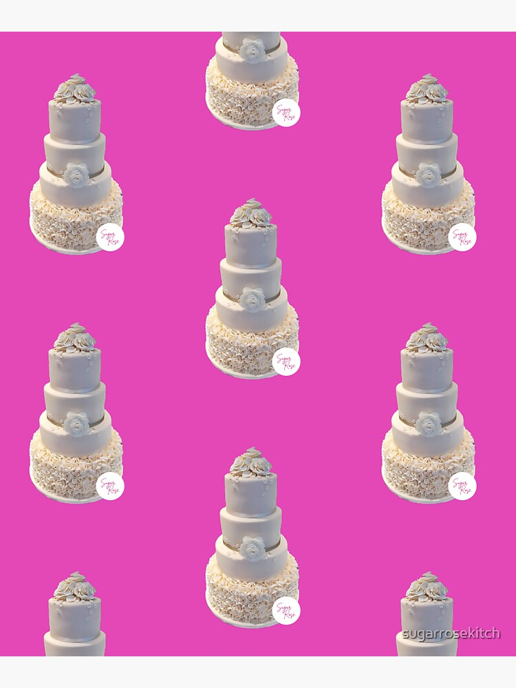 Elegant Wedding Cake by sugarrosekitch