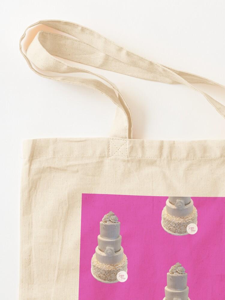 Alternate view of Elegant Wedding Cake Tote Bag