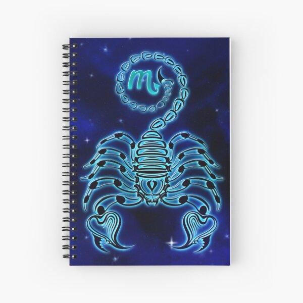 Dark Blue Scorpio Spiral Notebook