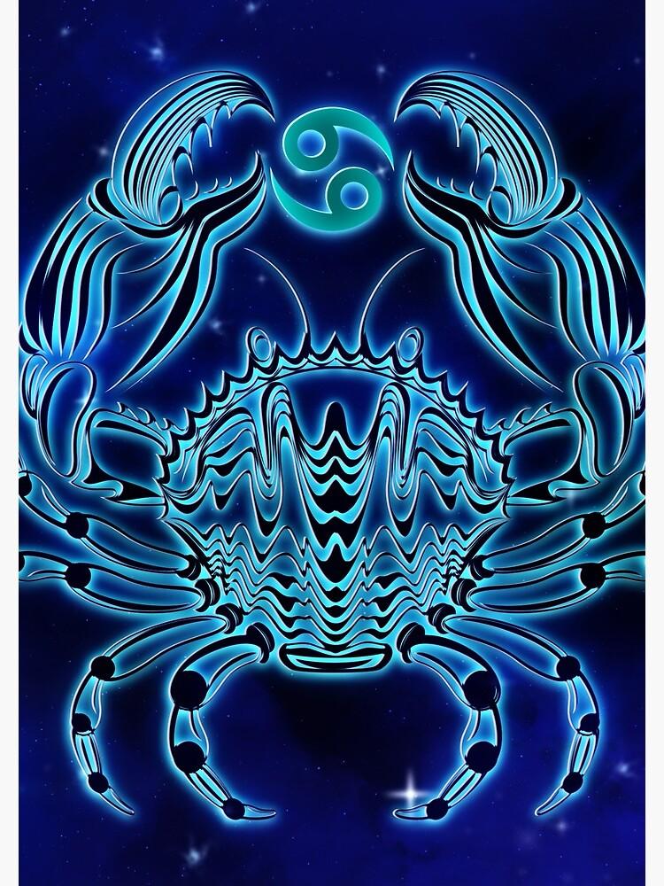 Dark Blue Cancer Zodiac by VibeCircle