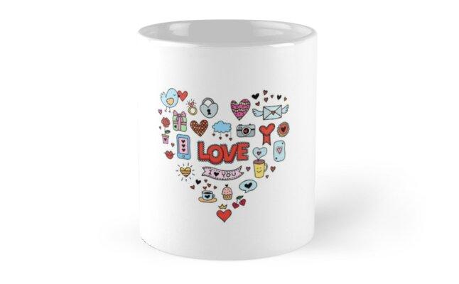 Cute Love Symbols Mugs By Redchocolate Redbubble