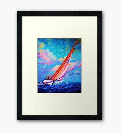 Single Handed Framed Print