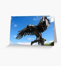 heavy metal eagle Greeting Card