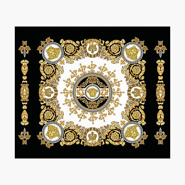 Barococo Golden Luxury Ornamental Decorative European Design Photographic Print