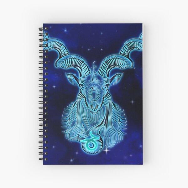 Blue Capricorn Spiral Notebook