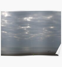 Dymchurch cracked clouds Poster