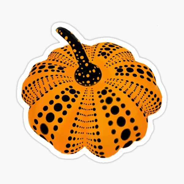 Polka Dot Pumpkin Sticker