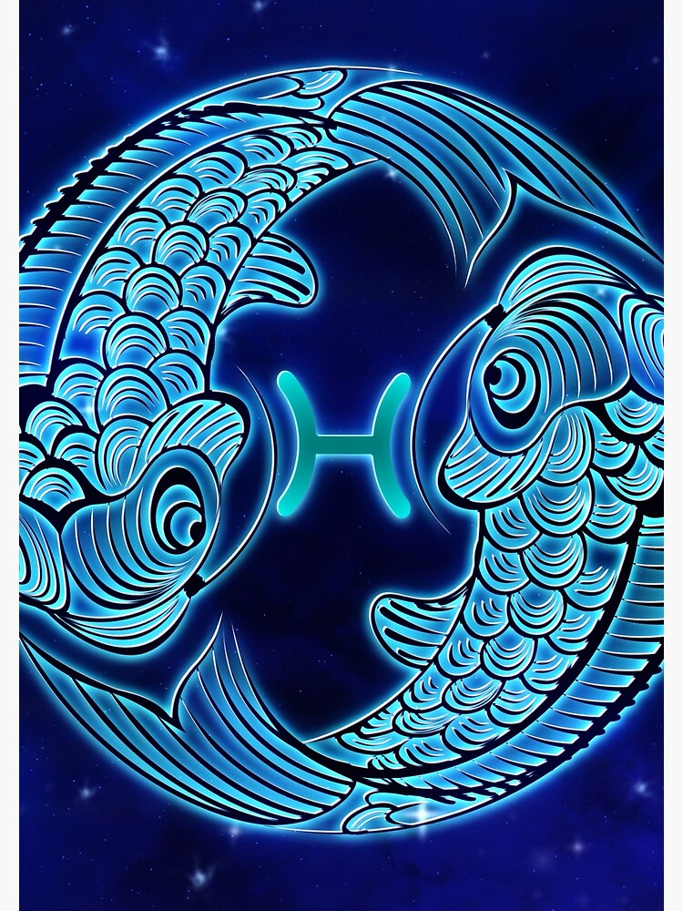 Blue Pisces Zodiac Sign by VibeCircle