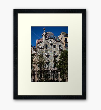 cityscapes #258, dragon by gaudi Framed Print