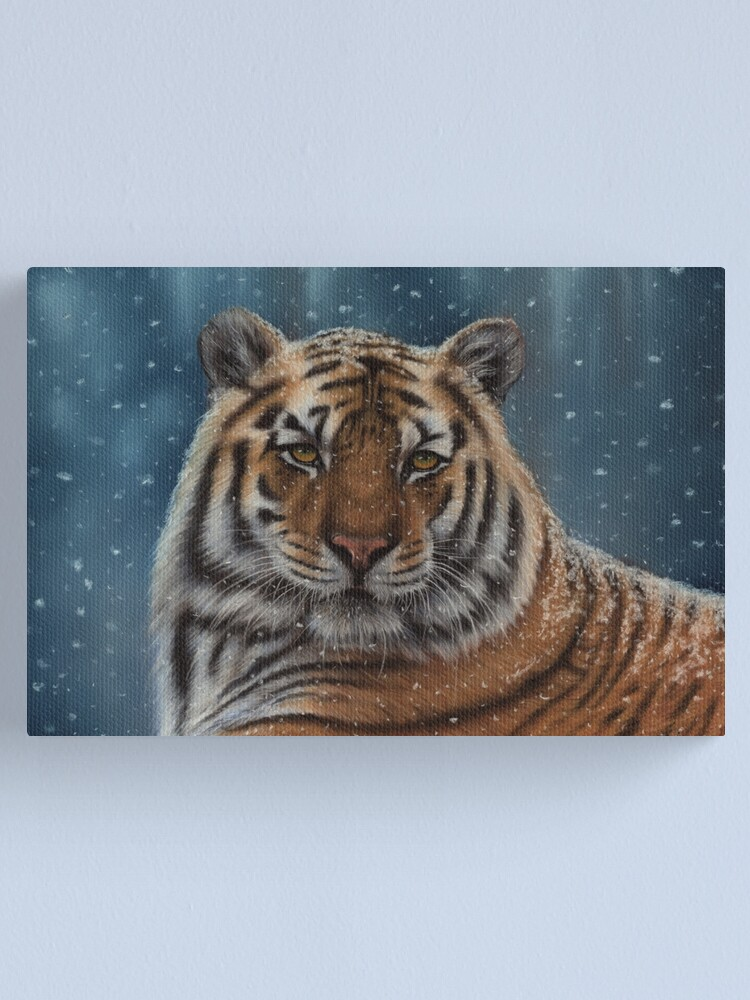 Alternate view of Tiger in the Snow Canvas Print