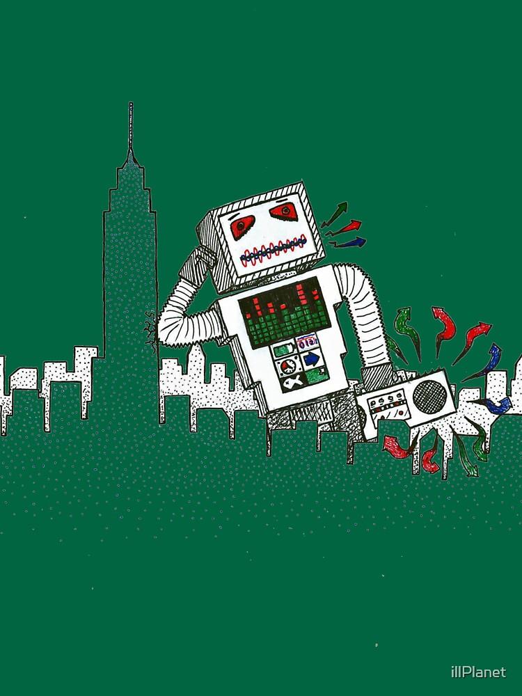 Robot Takes New York by illPlanet