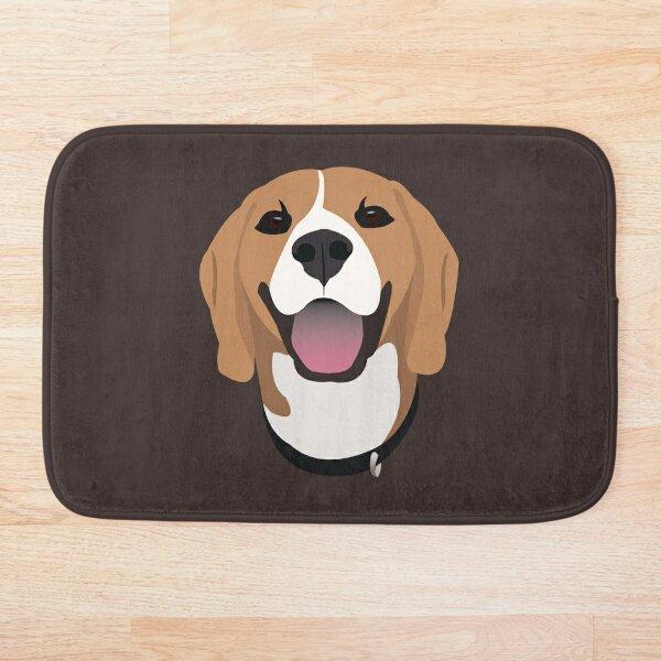 Happy Beagle Dog Bath Mat