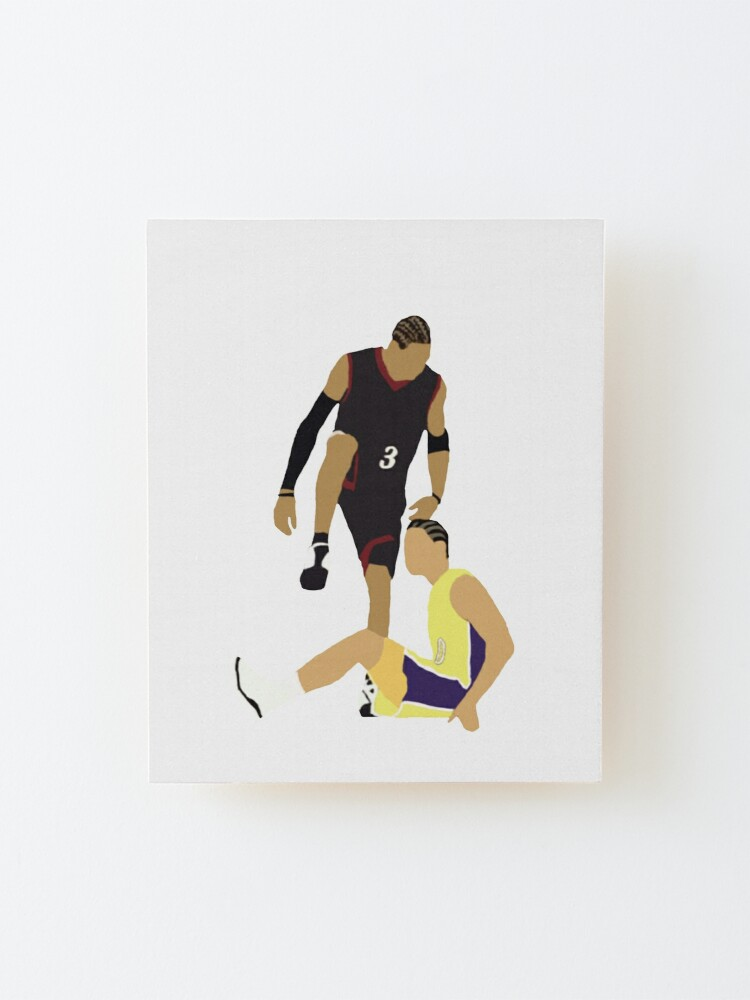 Alternate view of Allen Iverson Steps Over Tyronn Lue  Mounted Print