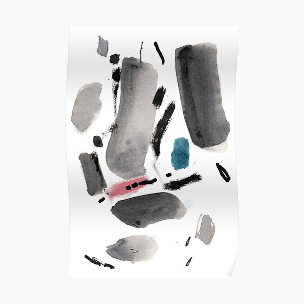 Abstract Ink Drawing Art Poster