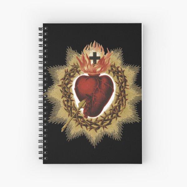 Sacred Heart of Jesus Catholic Spiral Notebook