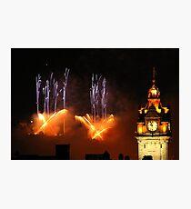 Edinburgh Festival Fireworks 2011 (V) Photographic Print
