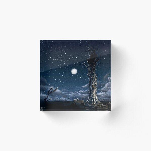 """A Masked Tree"" Acrylic Block"