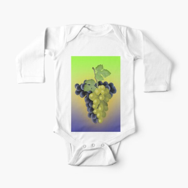 Grapes / The Fruit Shop Long Sleeve Baby One-Piece