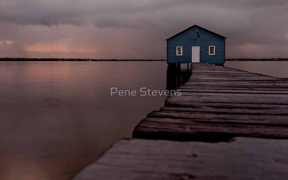 Crawley Boatshed by Pene Stevens