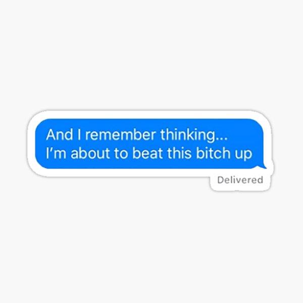 A Demi Lovato Beating Text Sticker  Sticker