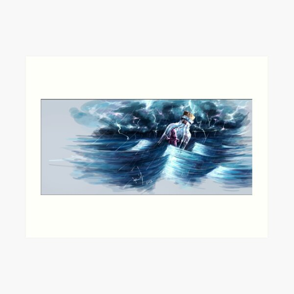 """Thru the waves"" Art Print"