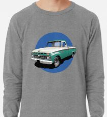 1966 Ford F100 Custom Cab - Teal & Weiß Leichter Pullover