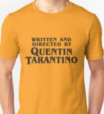 Written and Directed by Quentin Tarantino (dark) Slim Fit T-Shirt