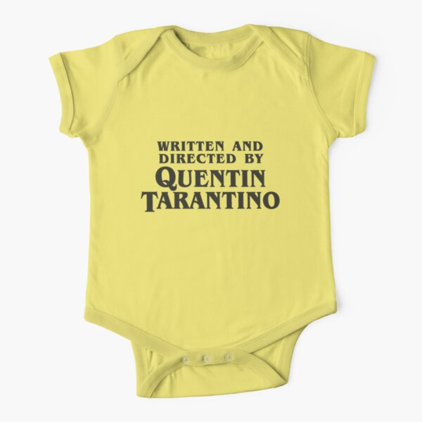 Written and Directed by Quentin Tarantino (dark) Short Sleeve Baby One-Piece