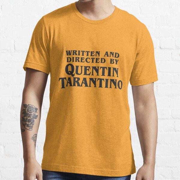 Écrit et réalisé par Quentin Tarantino (sombre) T-shirt essentiel