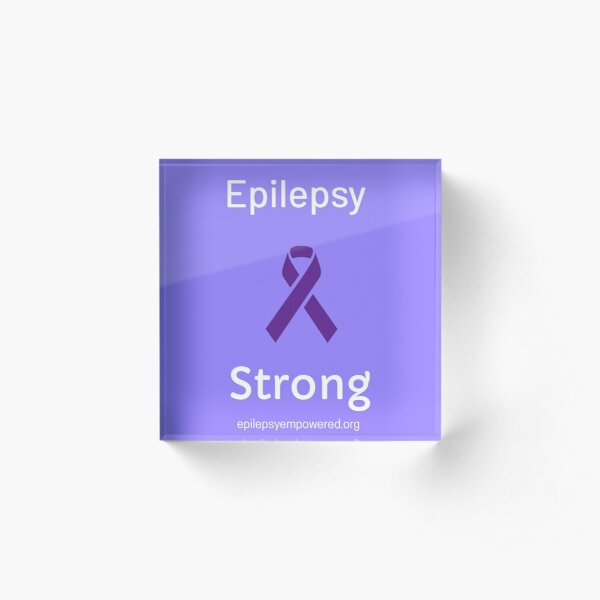 Epilepsy Strong - epilepsy awareness ribbon Acrylic Block