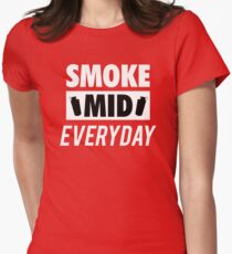 Smoke Mid Everyday Womens Fitted T-Shirt