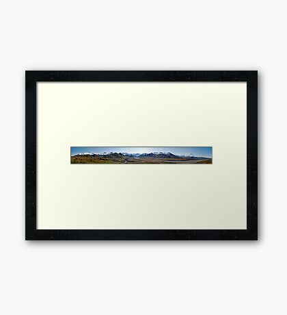 Braided River with McKinley, Denali National Park  Framed Print
