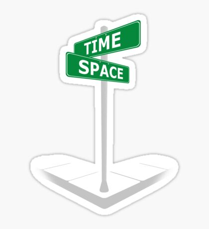 At the corner of Time and Space Sticker