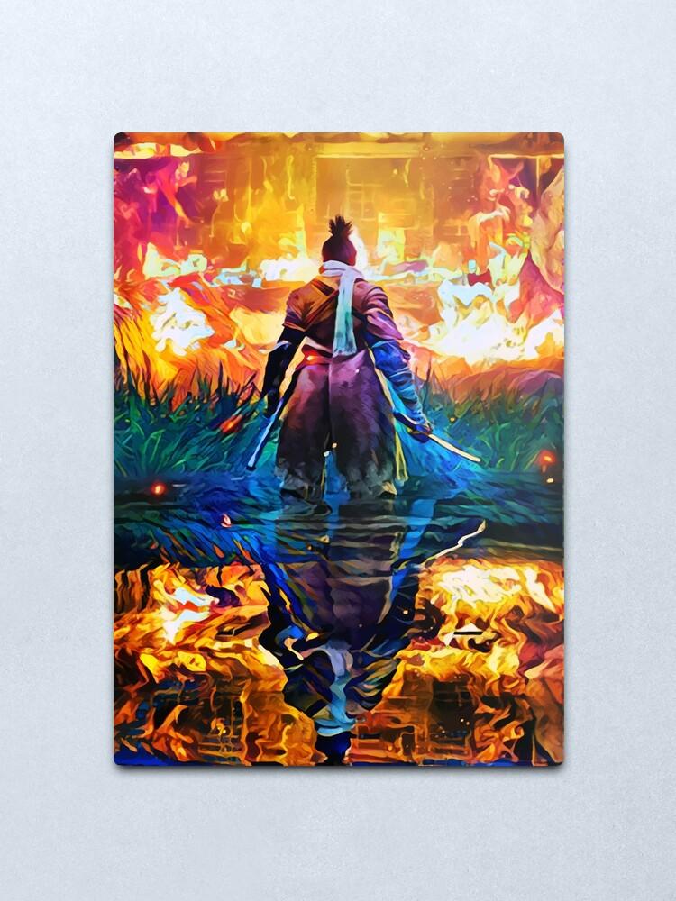 Alternate view of Master Fire Sekiro Metal Print