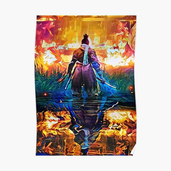 Master Fire Sekiro Poster
