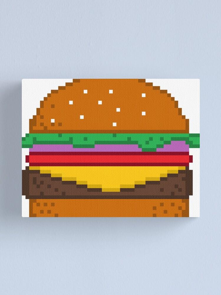 Impression Sur Toile Hamburger Art De Pixel Par Xtrolix Redbubble