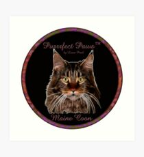 Purrrfect Paws™ Maine Coon Art Print