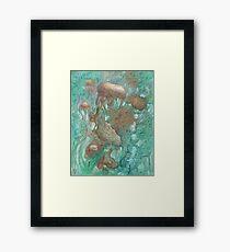 Blue Alternator, primordial abstraction 2  Framed Print