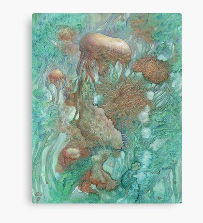 Blue Alternator, primordial abstraction 2  Canvas Print
