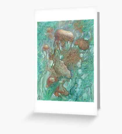 Blue Alternator, primordial abstraction 2  Greeting Card