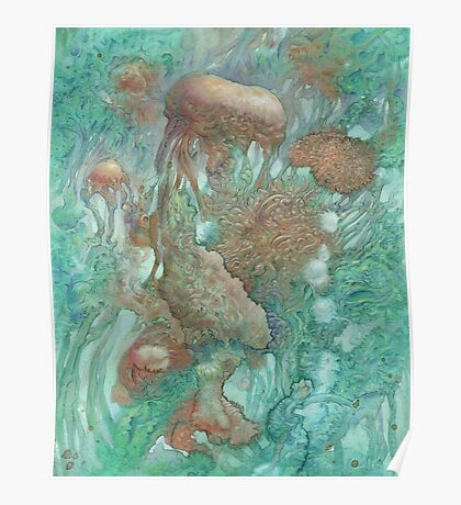 Blue Alternator, primordial abstraction 2  Poster