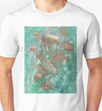 Blue Alternator, primordial abstraction 2  T-Shirt