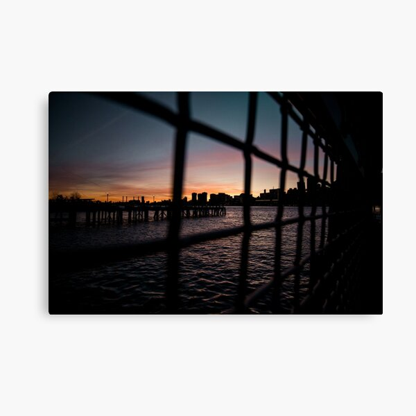 Moody NYC Water Sunset Canvas Print